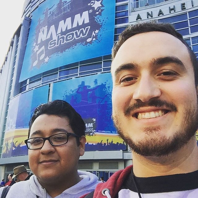 WE OUT HERE CUHZ! #Montra #metal #NAMM #anaheim #cuteboys