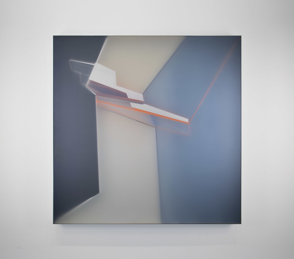 KAL MANSUR | GRAY FRACTURE 40 | 40 x 40 in |  S OLD