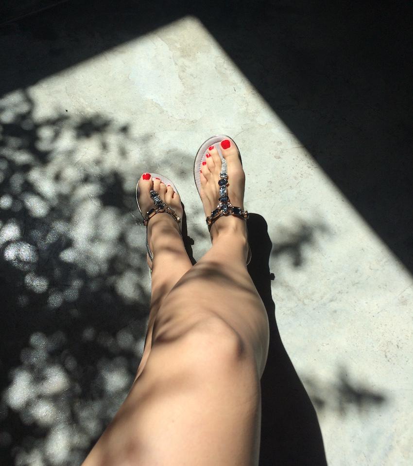 A estreia das sandálias novas XTI! Vou mostrá-las melhor em breve.