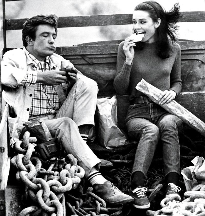 """Audrey Hepburn em Two for the Road(em Portugal """"Caminho para dois"""") em 1967"""