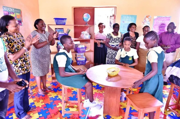 February, 2016. We created a reading room filled with age appropriate materials on hand washing literacy and installed a hand washing station and mentoring three students in Dora Numa College Warri, Delta State.