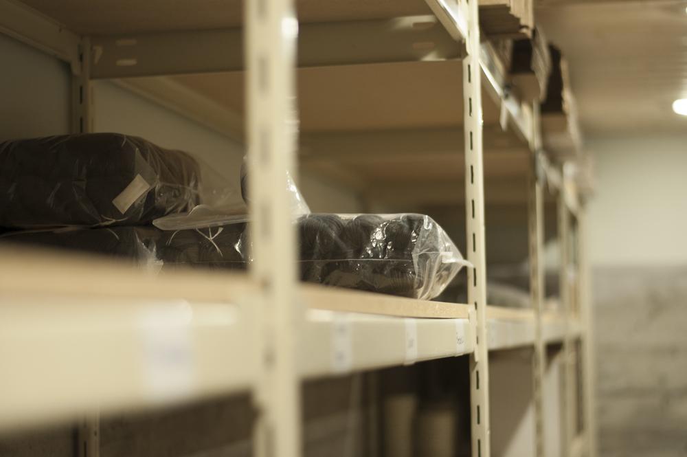 Empty shelves needing yarn :(