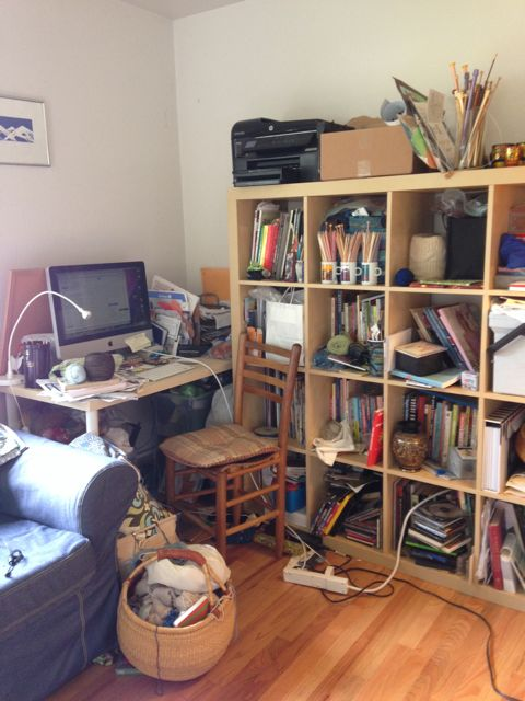 The Rockeboy Knits studio is located in the living room of the owners 1950s Seattle home.