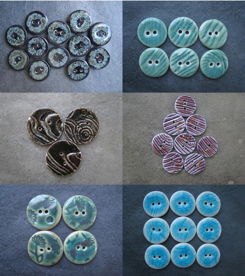 Handcrafted buttons put a nice finishing touch on any crotched or knitted item!