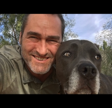 With my Cane Corso Mugsy