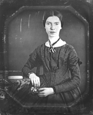 """Emily Dickinson daguerreotype"" by Unknown - Yale University Manuscripts & Archives Digital Images Database [1].  Licensed under Public Domain via Commons ."
