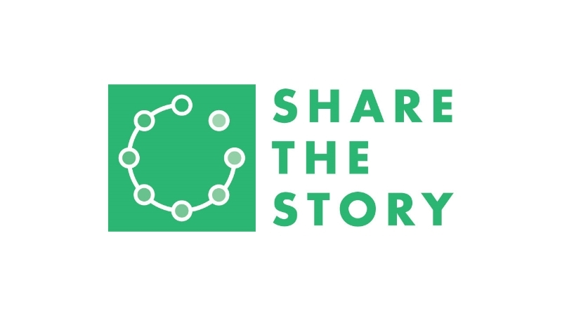 Share the story is an organization committed to helping people from oral cultures communicate the story of the Bible. The goal of the logo was to communicate connecting people together and into community.