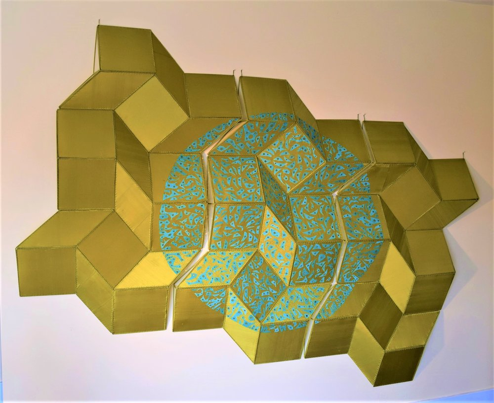 Spring Tessellation, 2018  8'(wide) x 6'( high) x 4 1/2''( deep)