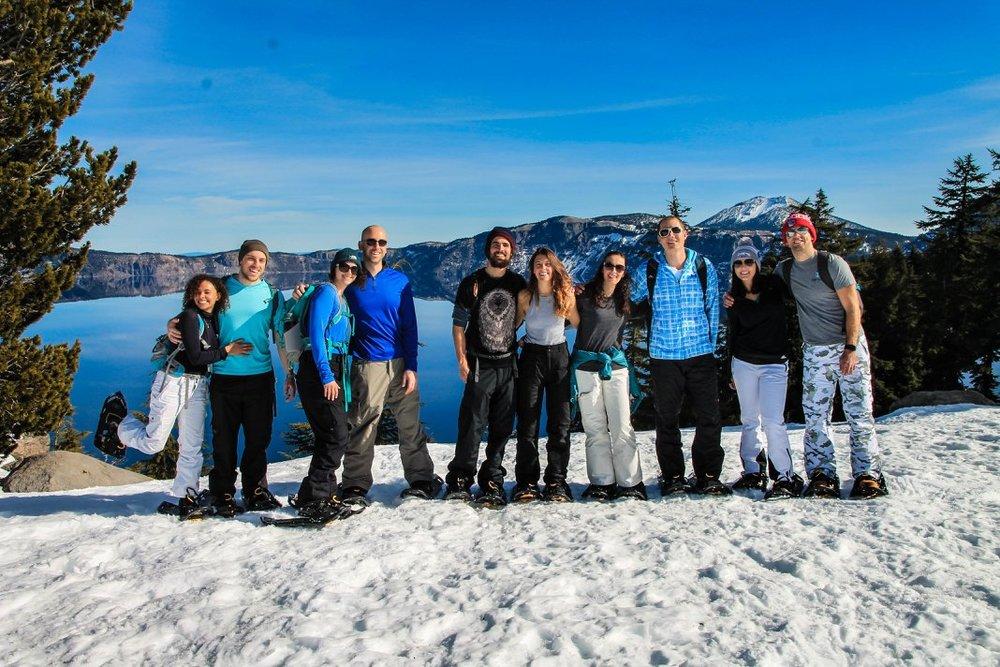Bend, Oregon Yoga Retreat; Snowshoeing at Crater Lake National Park.