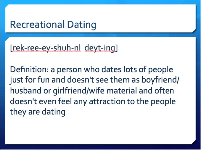 Taking a break from dating definition