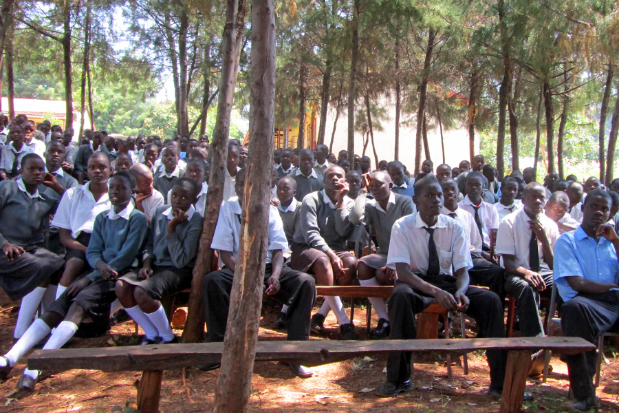 Assembly at Atemo Mixed Secondary School