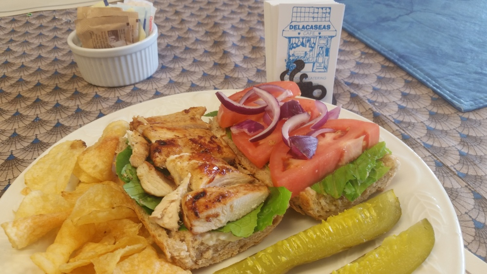 Grilled Chicken on a Baguette