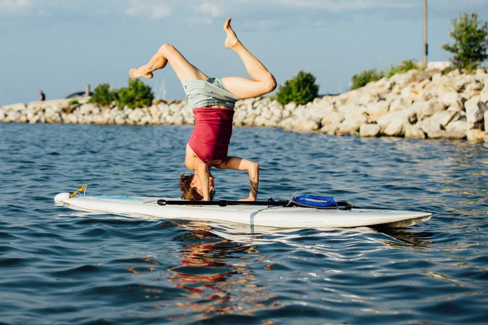 Photo of Holly Twining from Maine Yoga Fest. No headstands required for this adventure!