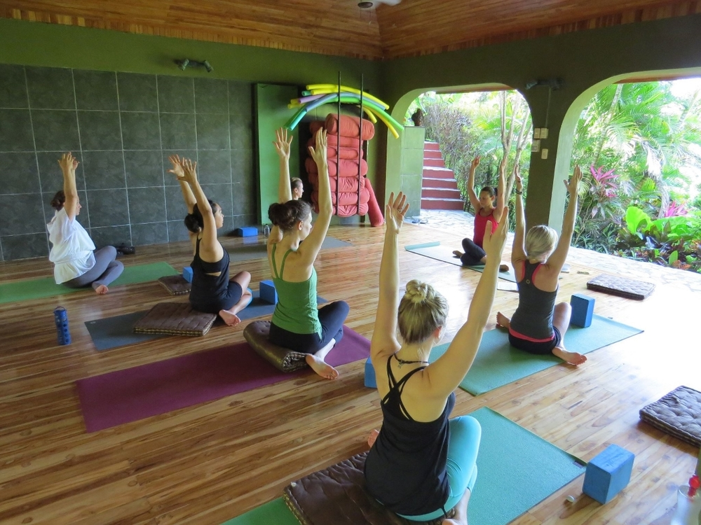pic from Nosara Yoga - checking it out!