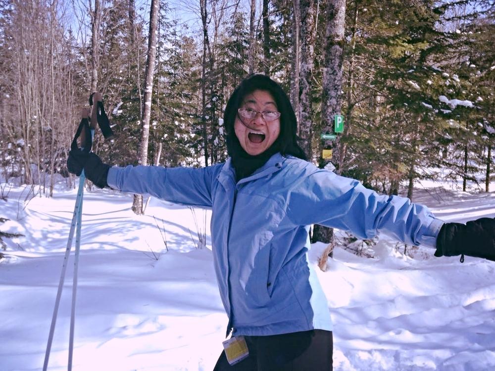 Jenny, MYA cheerleader psyched to ski!