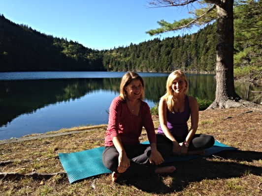 Emily & Devon at a great spot to practice yoga!