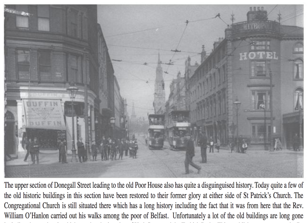 1920's - Looking up Upper Donegall Street from Lower Donegall Street in the mid 1920's