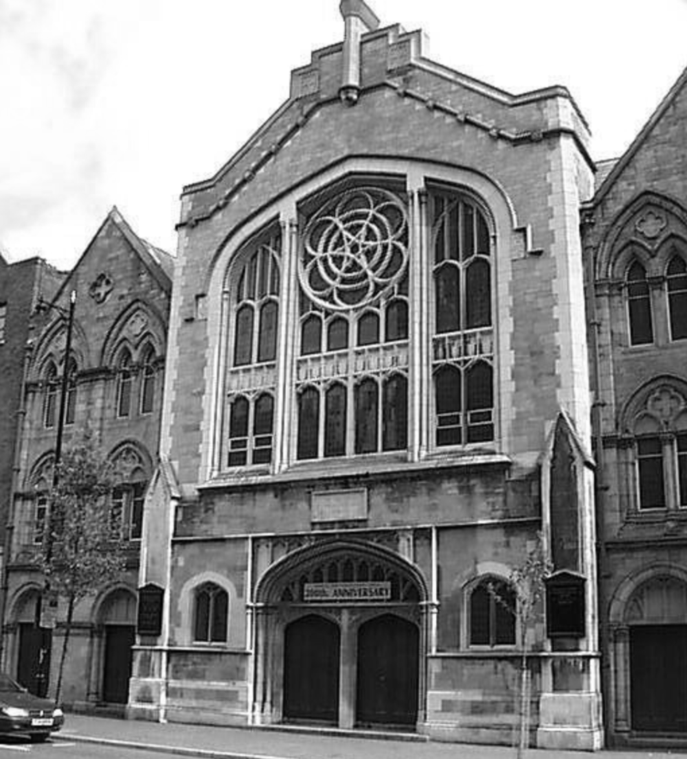 1860's - The original church on this site was completed in 1860, with additions in 1871 on either side by Luke Macassey. There were extensive renovations in 1898 before it was largely destroyed by fire in 1931. Rebuilt in 1932, it was rebuilt by Samuel Stevenson & Sons in 1955 again following extensive bomb damage during the Belfast Blitz of World War II.