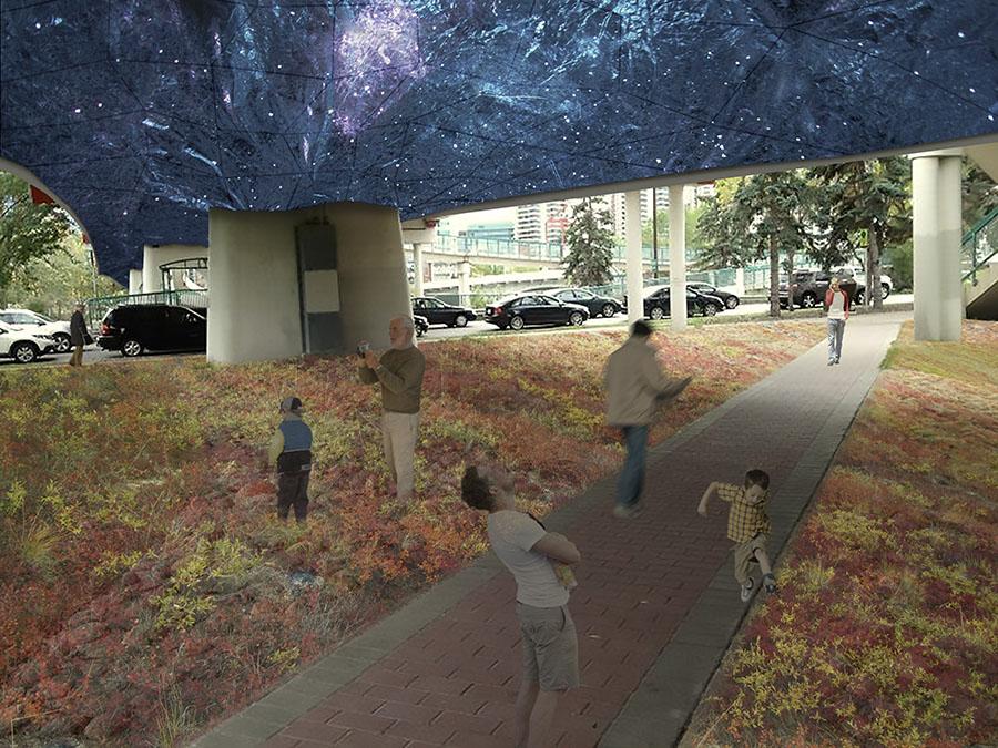 UnderSky en un entorno urbano