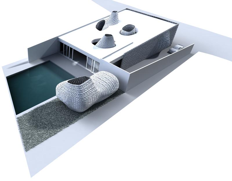 Proyecto de vivienda que incorpora espacios impresos en 3D.