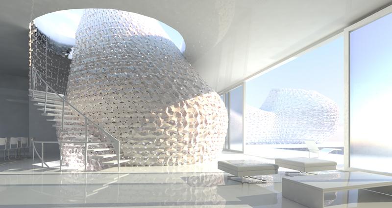Arquitectura impresa en contraste con arquitectura tradicional.