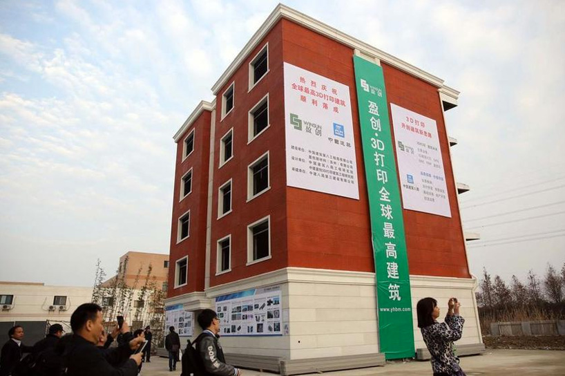 Edificio de cinco plantas construido mediante impresión 3D.