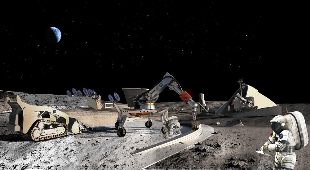 La impresión 3D se podría usar para construir colonias en la Luna u otros planetas.