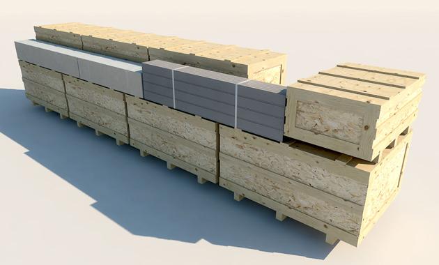 Una vez prefabricados los paneles son fácilmente transportables.