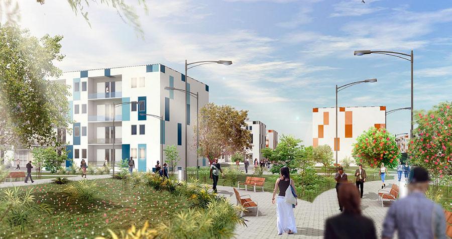 Proyecto de vivienda residencial colectiva usando el sistema P3.