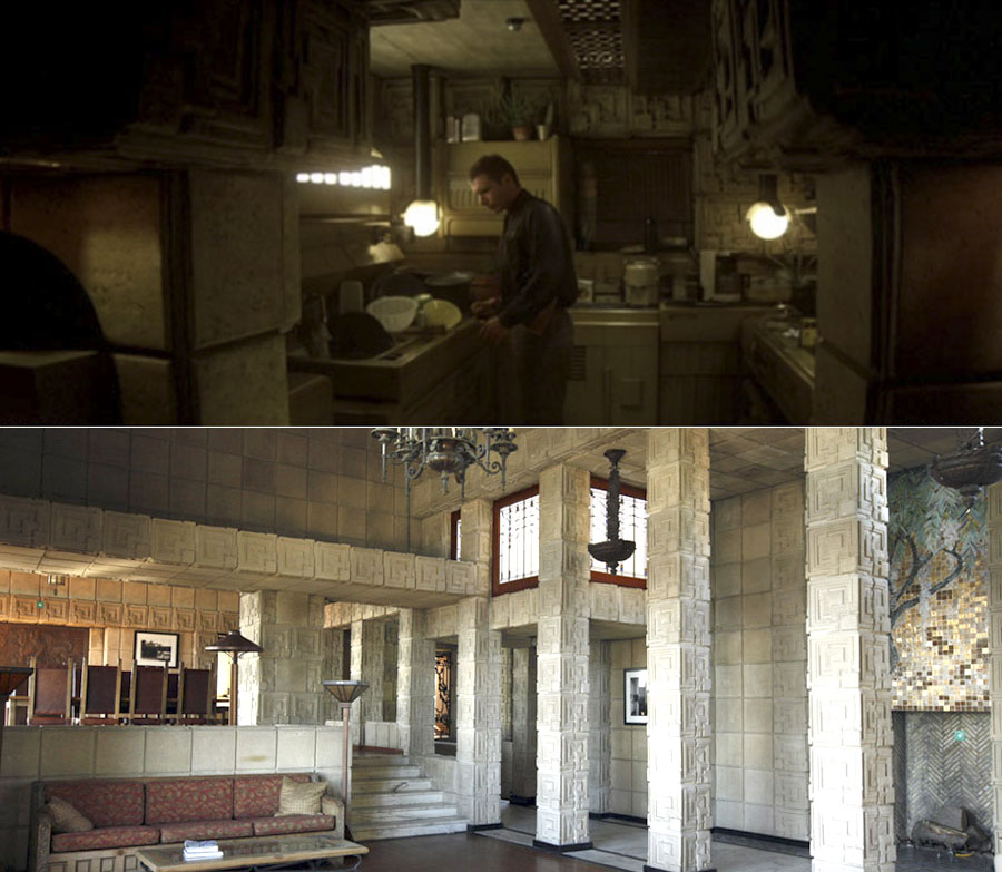 Comparativa de laEnnis House de Frank Lloyd Wright