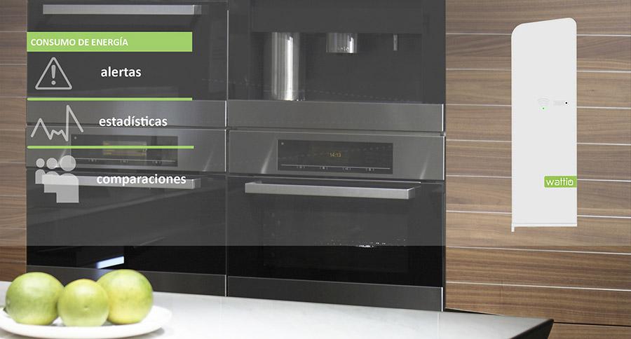 El monitor de electricidad BAT puede controlar el consumo de hasta 3 circuitos y te avisa de cualquier anomalía.