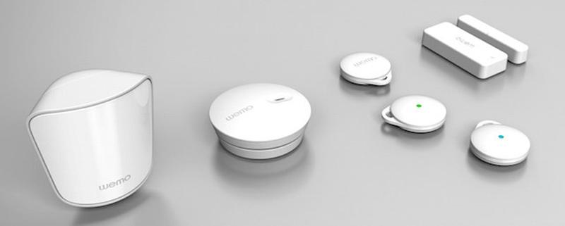Kit de sensores de proximidad, apertura y presencia de la gama Wemo de Belkin.