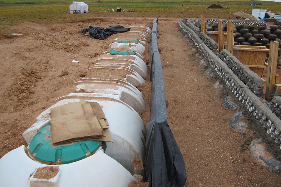 Depósitos de agua enterrados.