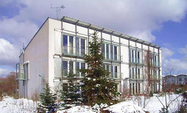 La primera passivhaus que se construyó estáen Darmstadt, Alemania.
