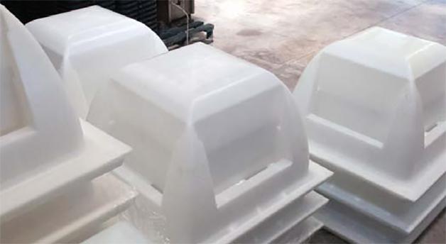 Los moldes Holedeck son fácilmente apilables