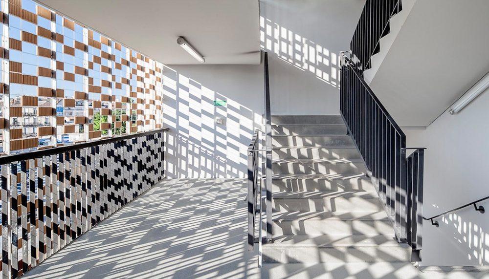 Flexbrick permite definir diferentes grados de sombreamiento en el edifico.