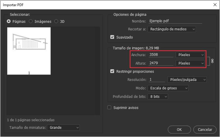 Si no vamos a imprimir solo nos afectan las dimensiones en píxeles.