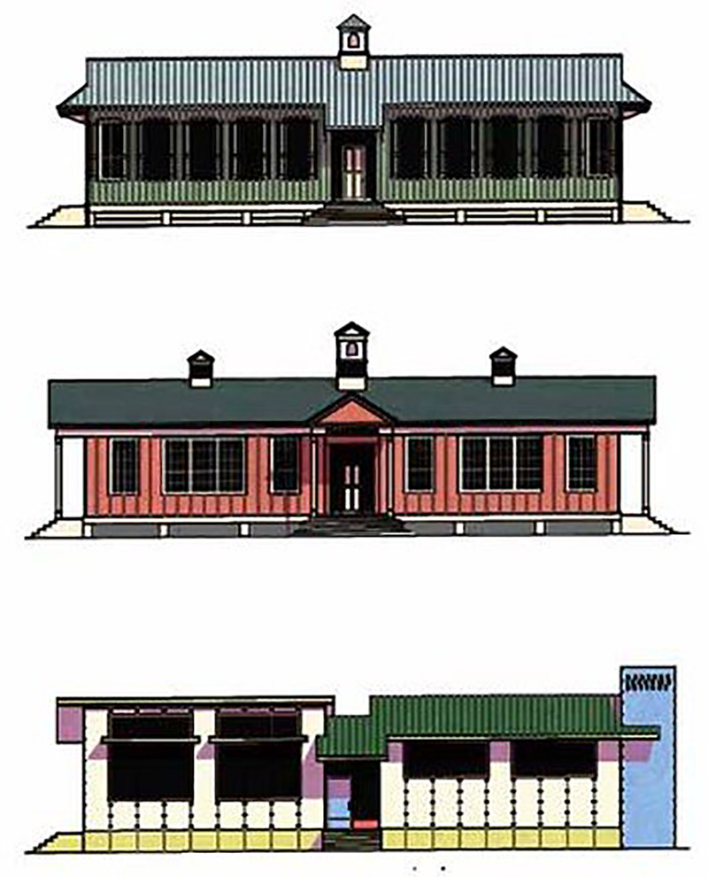Distintas opciones de la Manning Portable Cottage
