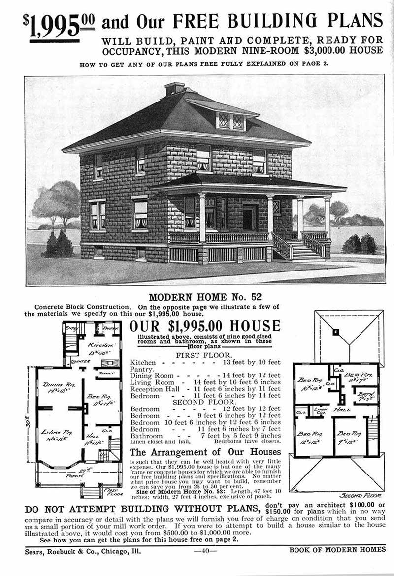La casa prefabricada de Sears, Roebuck and Co. fue la primera que tuvo éxito