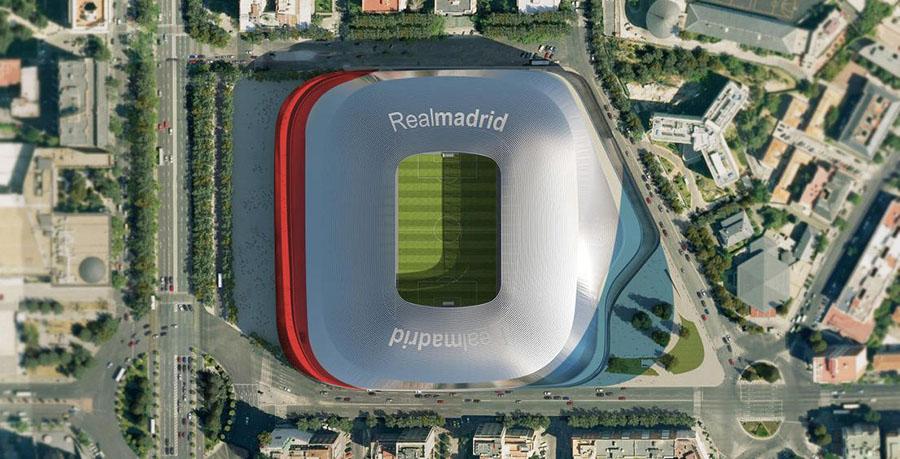 Sombreado en rojo, la zona a la que tendría que renunciar el proyecto de 2014. Sombreado en azul, la zona que le permiten ocupar desde el Ayuntamiento de Madrid.