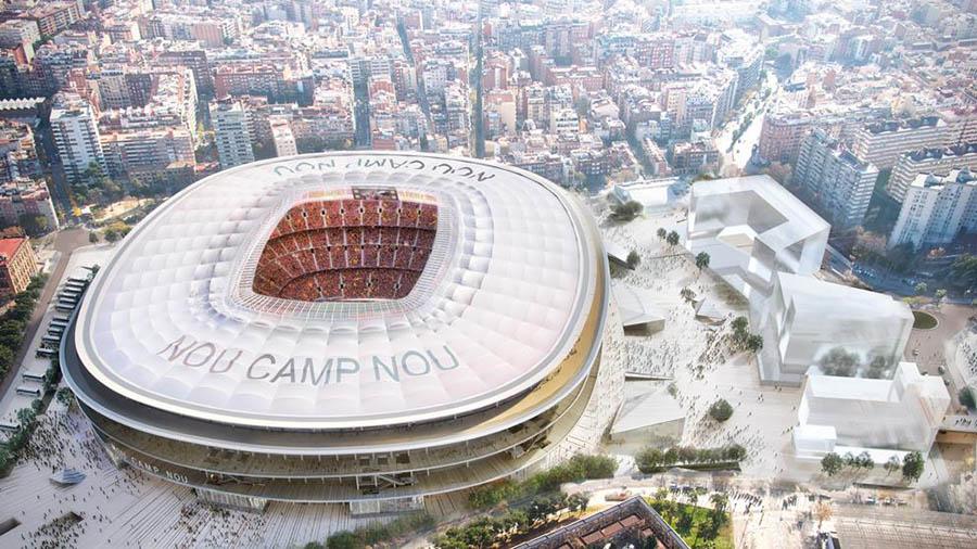 Vista aérea del futuro Camp Nou.