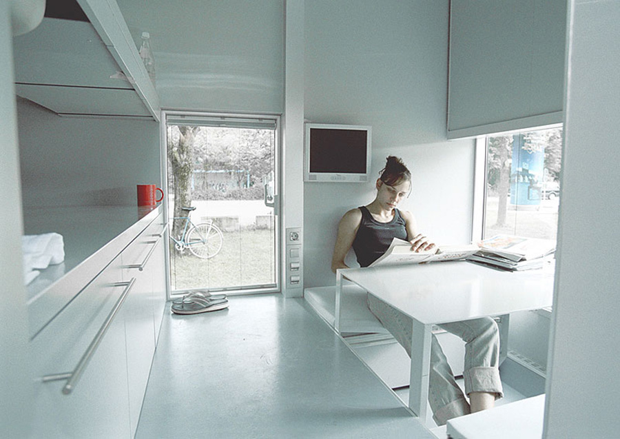 Vista interior de Micro Compact Home.
