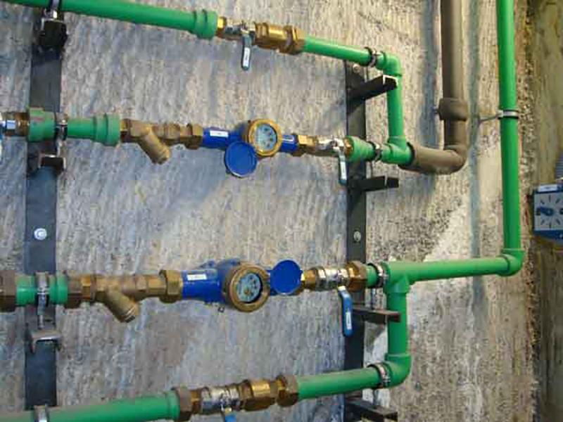 Instalación de polipropileno
