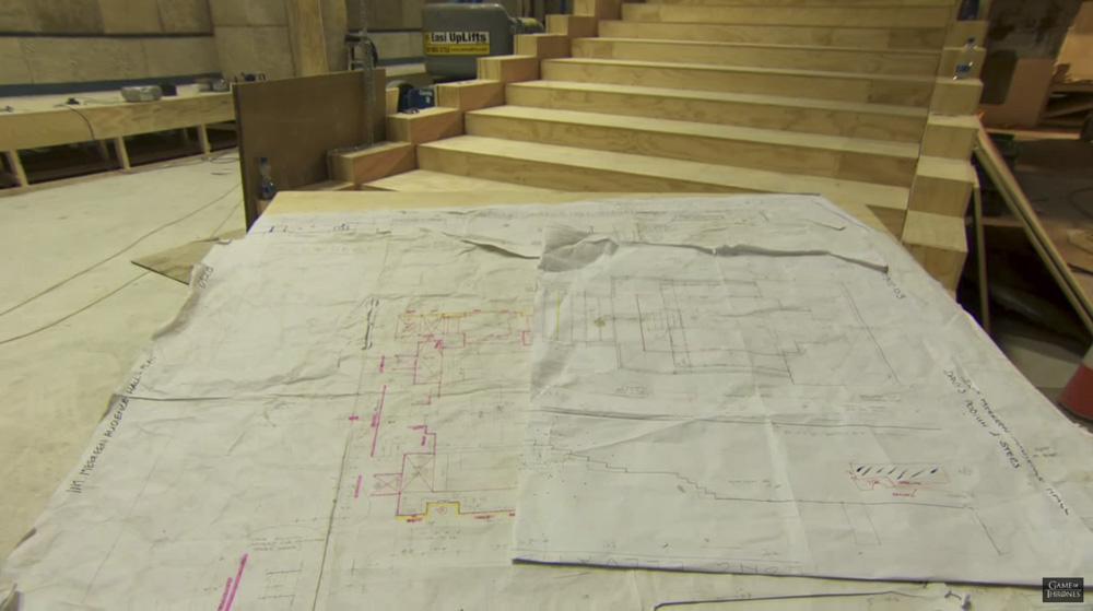 Planos para la construcción del interior de la pirámide de Meereen