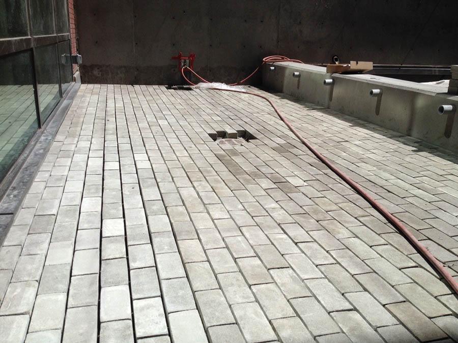 Pavimento realizado con Biomason