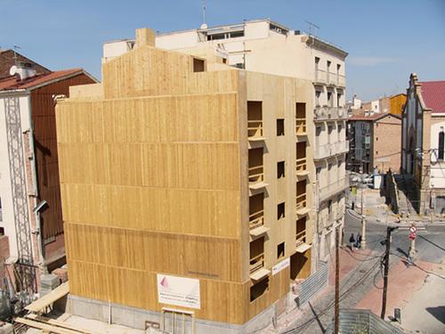 Edificio de 6 alturas en Lleida, contruido con paneles de madera contralaminada