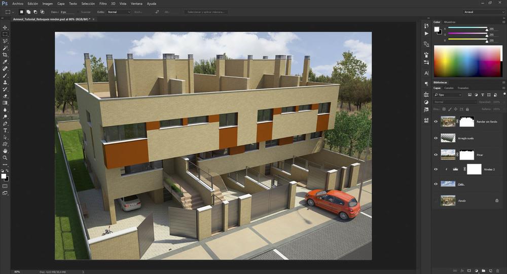 Colocamos fotografías reales del entorno para ayudar a entender el contexto de la edificación.