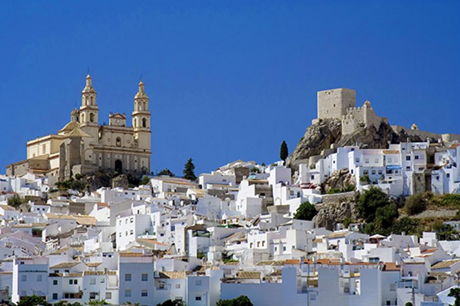 El pueblo de Olvera en Cádiz.