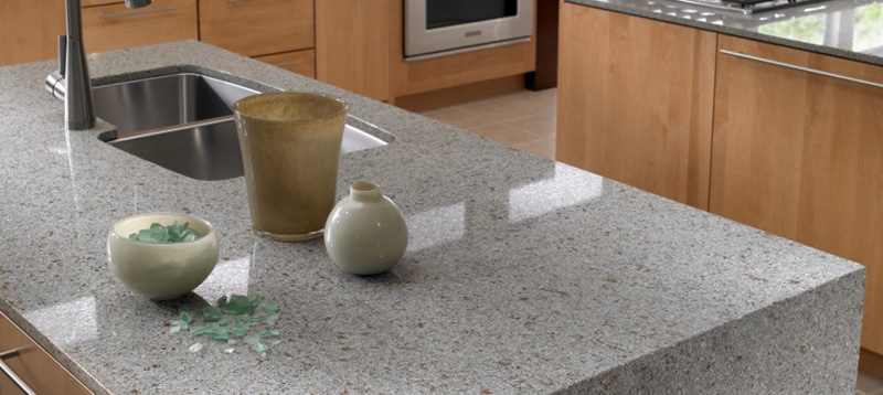 Gama ECO de Silestone fabricada al 100% a partir de elementos reciclados.