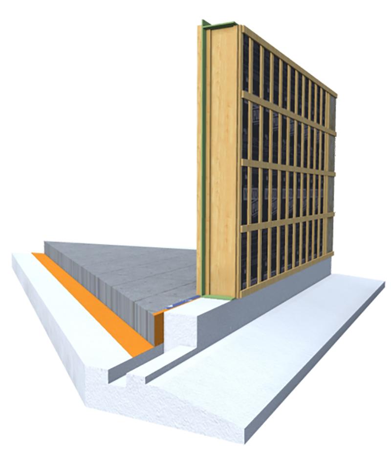 """Los muros """"Super Wall"""" apoyan sobre el aislante térmico que corona la cimentación"""